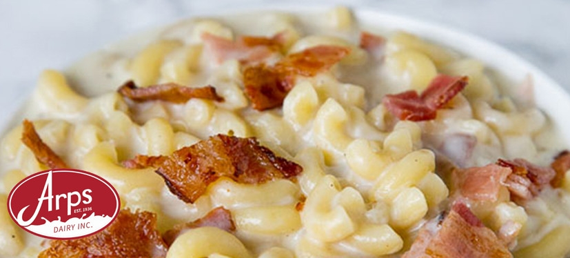 Creamy Bacon Macaroni and Cheese With Arps Dairy Farm Fresh Milk