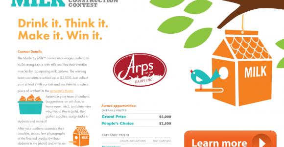 Milk Carton Contest: Win $5,000 For Your School!!